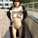 Fカップ巨乳の25歳くらいの人妻が野外で露出プレイしてる画像のお気入りをうp[15枚]